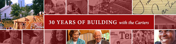 30 years of building with the Carters