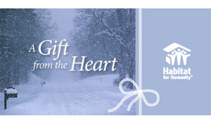 Sample gift from the heart holiday card