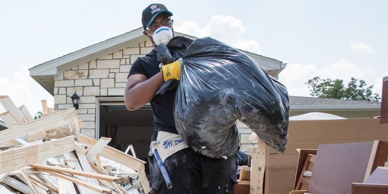 Hurricane Harvey volunteer cleanup