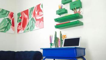 Back to school DIY desk space with items from Habitat ReStore