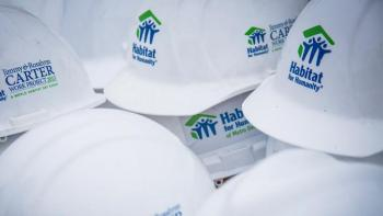 Habitat for Humanity Carter Work Project hard hats