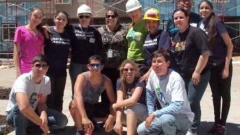 A Global Village team from Paraguay building in Colorado