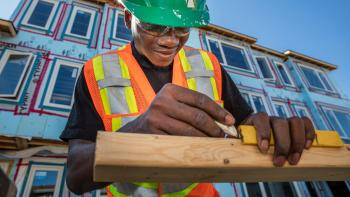 Canadian Habitat for Humanity volunteer