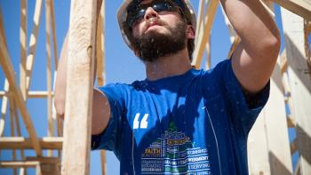 U.S. Habitat for Humanity volunteer