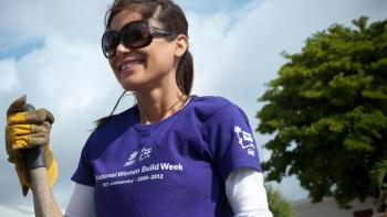 National Women Build Week volunteer