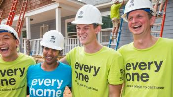 Habitat for Humanity young volunteers