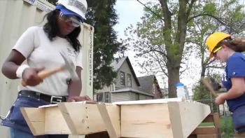 The AmeriCorps Build-a-Thon is an annual event which brings Habitat AmeriCorps members together to help meet the needs of partner communities and celebrate the service of our members.