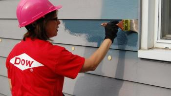 Dow volunteer painting