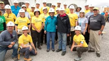 House and volunteer photos, Habitat for Humanity Carter Work Project Canada 2017