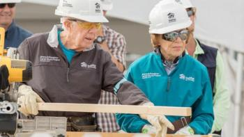 Jimmy and Rosalynn Carter at the Carter Work Project 2017