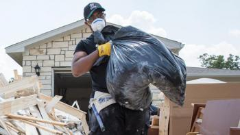 Hurricane Harvey volunteer cleanup
