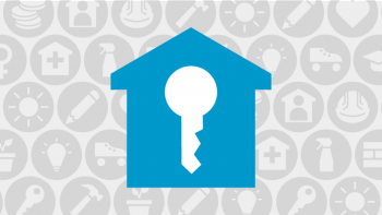 Home and key graphic