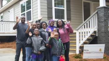 Habitat volunteers help build the Beloved Community.