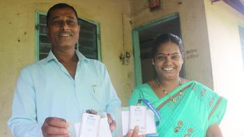 Jayshri and her husband Gabalu (right) built their Habitat home during 2006 Carter Work Project in Lonavala, India.