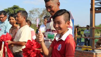 House dedication during Legacy Build, 13 Nov 2018, in Oudong, Cambodia