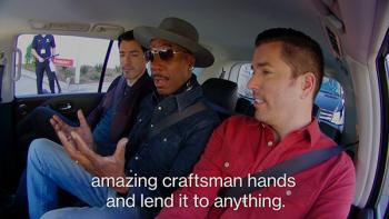 J.B. Smoove in car with Scott Brothers.