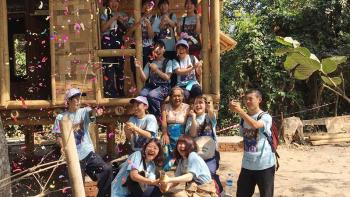 Japanese volunteers at Asia Build 2019 in Myanmar