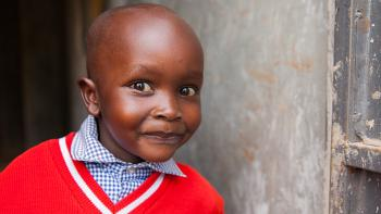 Photo: A little boy from Kenya looking curiously at somebody