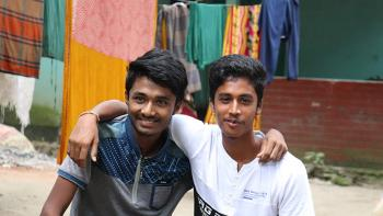 Prangon and Dipu are good friends who live in Raghurampur village, Mymensingh, Bangladesh