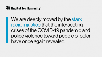 """We are deeply moved by the stark racial injustice that the intersecting crises of the COVID-19 pandemic and police violence toward people of color have once again revealed"""