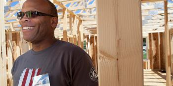Habitat for Humanity Veterans Build homeowner
