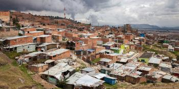 Slum housing, Colombia