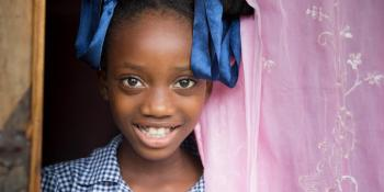 girl doorway, Haiti