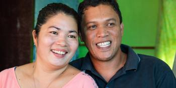 Evangeline and Virgilio rebuilt their home in Philippines after Typhoon Haiyan