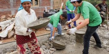 Skills to rebuild communities in Nepal