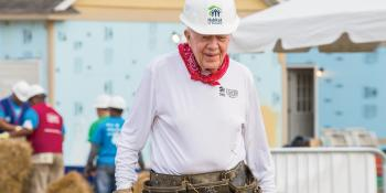 Former U.S. President Jimmy Carter shares the importance of service to others
