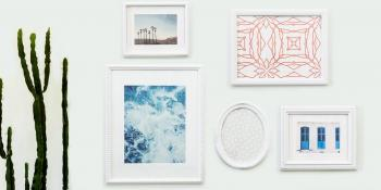 vintage wall frames. DIY gallery wall with repurposed vintage frames Make your own