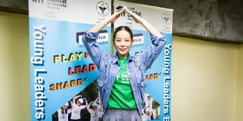 Hong Kong actress Kate Yeung at the launch of Habitat Young Leaders Build in Hong Kong