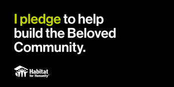 I pledge to help build the Beloved Community.