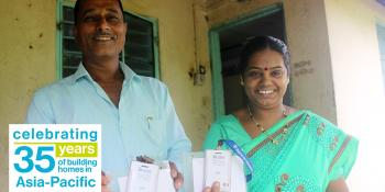 Jayshri and her husband Gabalu (left) built their home during the 2006 Carter Work Project in Lonavala, India