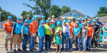 House and volunteer photos, Habitat for Humanity Carter Work Project 2018