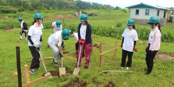 Japanese youth volunteers at Pacific Build 2019 in Fiji