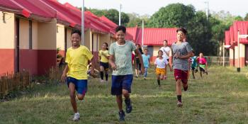 Philippine children running, Project Kick-off