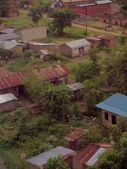 photo: houses and greenery in a town in Africa