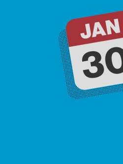 Calendar icon showing January 30.