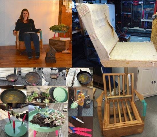 Artists repurpose furniture to raise money for a habitat for Reclaimed wood furniture bend oregon