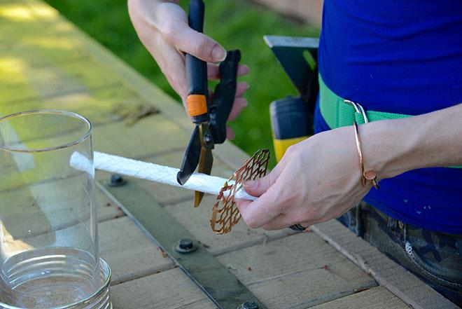 Create a lid for DIY tiki torch