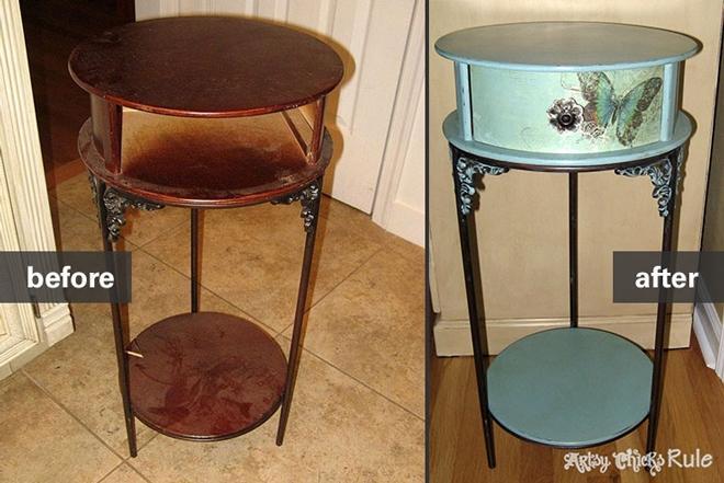 Antique end tables - Restoring Vintage Furniture And Antiques Habitat ReStore