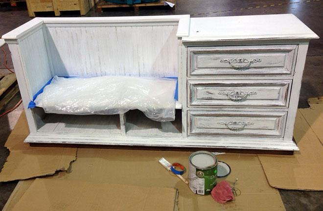 DIY upcycle project credenza