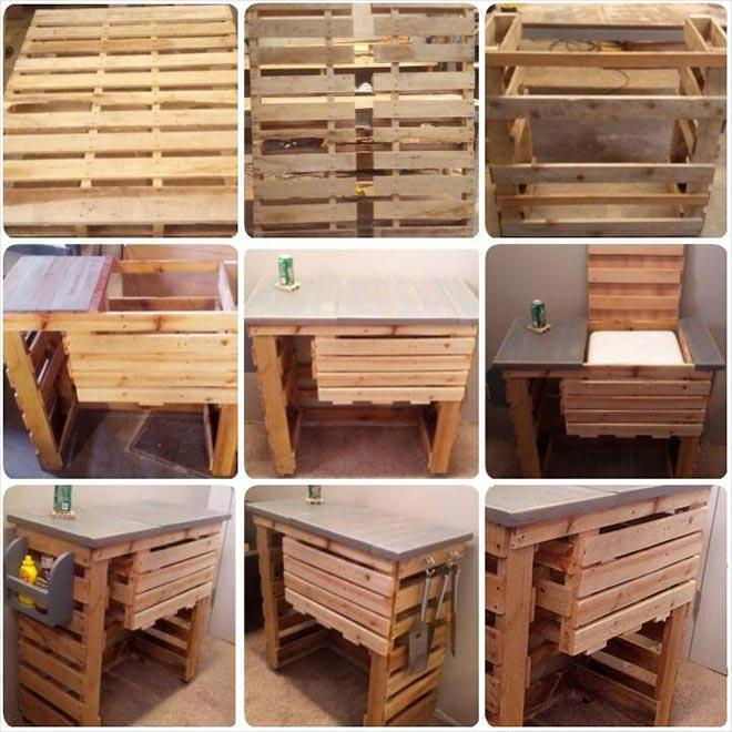 Ordinaire Grill Stand Wood Pallet Furniture