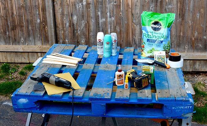 Materials list DIY planter