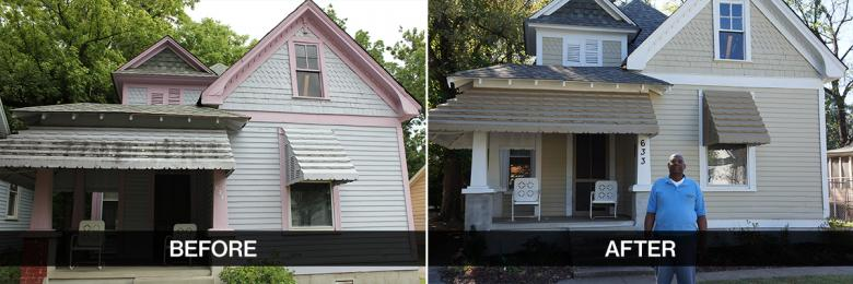 home improvement before and after habitat for humanity