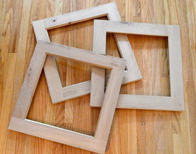 Old cabinet door frames & Lancaster Lebanon Habitat For Humanity | Holiday DIY: Festive Frames