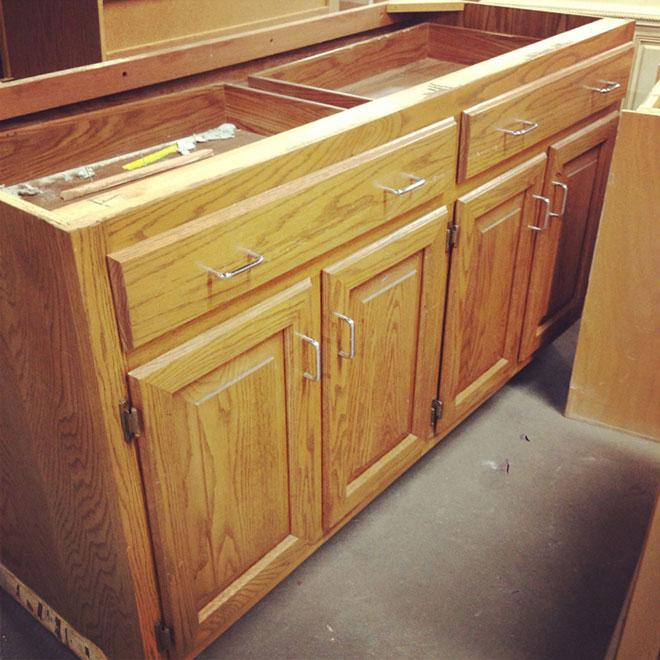 Used Oak Kitchen Cabinets: A Dream Kitchen Island Makeover With Help From The Habitat
