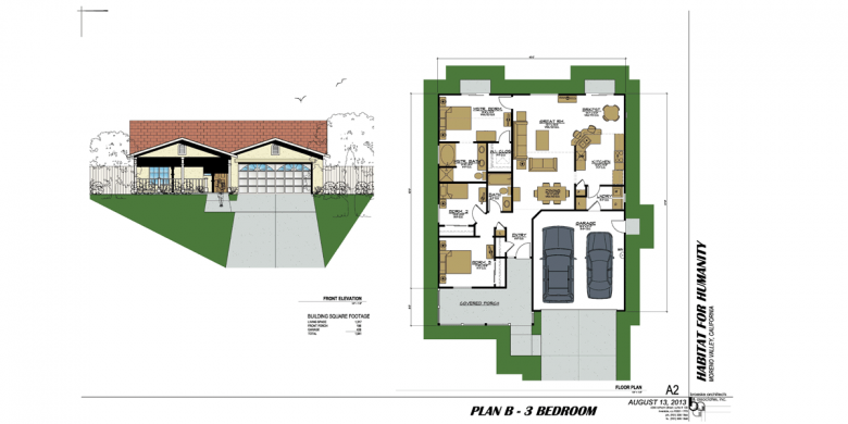 House plans habitat for humanity house interior for Habitat for humanity home designs