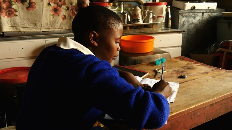 Malehloa studying